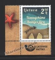 Lituanie – Lithuania – Lituania 2014 Yvert 1016, Save The Baltic Sea - MNH - Litauen