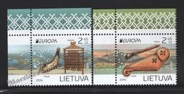 Lituanie – Lithuania – Lituania 2014 Yvert 1014-15, Europa Cept. National Musical Instruments - MNH - Litauen