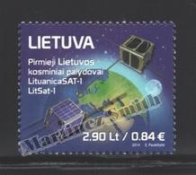 Lituanie – Lithuania – Lituania 2014 Yvert 1022, Launch Of The 1st Lithuanian Satellite - MNH - Litauen