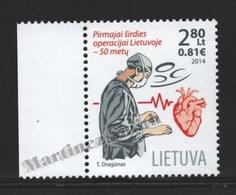 Lituanie – Lithuania – Lituania 2014 Yvert 1024, 50th Ann. First Open Heart Operation - MNH - Litauen
