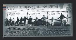 Lituanie – Lithuania – Lituania 2014 Yvert BF 50, 25th Aniv. Via Baltica - MNH – Miniature Sheet - Litauen