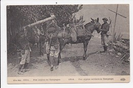 CPA MILITARIA Nos Alpins En Campagne Lot De 3 Cartes - War 1914-18