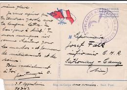 FM S / CP + Tampon SUPPLEANCE MILITAIRE LE KREIDER CP Pour Le Camp De Sathonay Datée Mars 40 - Militärstempel Ab 1900 (ausser Kriegszeiten)