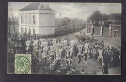 CPA BELGIQUE - LA LOUVIERE - La Louvière - Cortège De Gilles - TB PLAN TB ANIMATION Fête Centre Village 1907 - La Louvière
