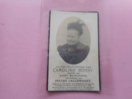 D.P.-CAROLINE BOSSY °THOUROUT 10-8-1841+GITS 30-6-1920 - Religion & Esotérisme