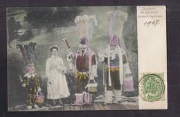 CPA BELGIQUE - LA LOUVIERE ? - La Louvière ? - Souvenir Du Carnaval - Gilles Et Cantinière - TB PLAN ANIMATION 1907 - La Louvière