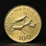 Tanzania 100 Shilingi 2012 UNC Coin Km32 Impalas - Tanzanía