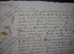 1606 Crespy (Crépy En Valois Oise) Reçu Signé Par Lhommé Procureur Au Siège Du Baillage De Crespy - Manuscripts