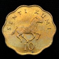 Tanzania 10 Senti  UNC Coin Km11 Horse. Random Age - Tanzanía