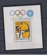 Poland   1972 Olympic Games München Souvenir Sheet MNH/** (H54) - Ete 1972: Munich