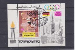 Yemen  1972 Olympic Games München Souvenir Sheet Used (H54) - Ete 1972: Munich