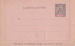 ST.PIERRE ET MIQUELON    ENTIER POSTAL/GANZSACHE/POSTAL STATIONERY  CARTE-LETTRE - Postal Stationery