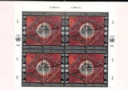 NB - [95464]TB//O/Used-ONU-Genève 1994 - N° 270/73, 9.6FS, Planisphère Et Terre, 4x BD4 Formant Un Sujet Unique (haut De - Office De Genève