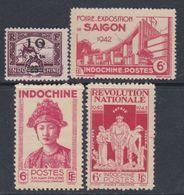 INDOCHINE N° 229 / 31 + 242  X Les 4 Valeurs Trace De  Charnière Sinon TB - Neufs