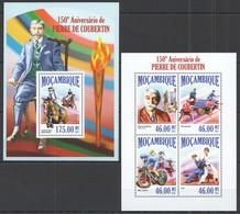 ST2518 2013 MOZAMBIQUE MOCAMBIQUE SPORT OLYMPIC GAMES 150TH ANNIVERSARY PIERRE DE COUBERTIN KB+BL MNH - Giochi Olimpici