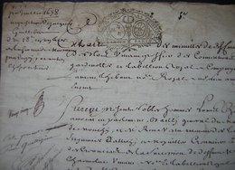 1678 Crépy (Oise) Vente De La 1/18eme Partie De La  Ferme De Mermont à Guillebert Moyennant 900 Livres - Manuscripts