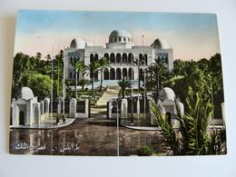 TRIPOLI PALAZZO REALE    LIBIA  LIBYE  AFRICA  POSTCARD USED  ACQUERELLATA - Libia