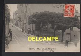 DD / 69 RHÔNE / LYON / PLACE ET RUE BISSARDON / TRES ANIMÉE / 1913 - Autres