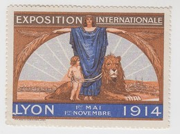 VIGNETTE EXPOSITION LYON 1914  65 X 47 - Commemorative Labels