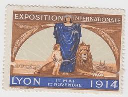VIGNETTE EXPOSITION LYON 1914  55 X 40 - Commemorative Labels