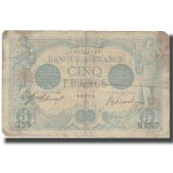 France, 5 Francs, Bleu, 1915, 1915-06-16, B, Fayette:2.28, KM:70 - 1871-1952 Circulated During XXth