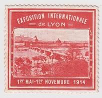 VIGNETTE EXPOSITION INTERNATIONALE  LYON 1914 - Commemorative Labels