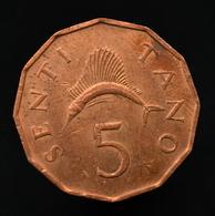 Tanzania 5 Senti Coin Km1 Random Age - Tanzania