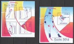ST2557 2013 MOZAMBIQUE MOCAMBIQUE SPORT WINTER OLYMPIC GAMES SOCHI 2014 KB+BL MNH - Inverno 2014: Sotchi