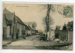 80 MAUCOURT Carte RARE Grande Rue Et Ses Villageois 1907 Timb - Edit Bardoux Galand Photographie     D11 2019 - Otros Municipios