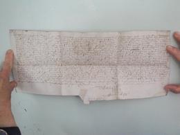 Parchemin Manuscrit Sur Peau 36 Par 14.5 Cm  à Déchiffrer - Manuscripts