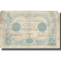 France, 5 Francs, Bleu, 1916, 1916-09-13, B+, Fayette:2.43, KM:70 - 1871-1952 Circulated During XXth