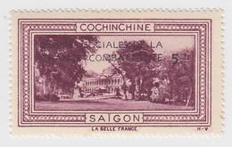 VIGNETTE  INDOCHINE. OEUVRES SOCIALES DE LA FRANCE COMBATANTE + 5fr. TONKIN BAIE D'ALONG - Indochine (1889-1945)