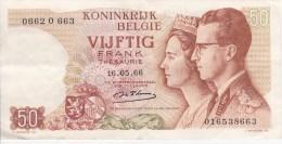 Belgique Billet De 50 Francs Du 16/05/1966 - [ 2] 1831-... : Royaume De Belgique