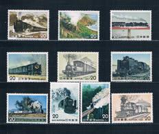 Japan 1188-97 MNH Set Japan National Railway 1975 CV 4.50 (J0031) - Japan