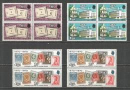 FIJI 4 SERIES CENTENARIO DEL SELLO YVERT NUM. 280/282 ** SERIE COMPLETA SIN FIJASELLOS - Fiji (1970-...)