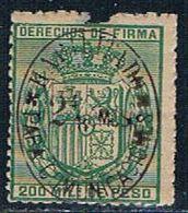 Philippines 130 MLH COA Damage 1881 CV 12.50 (P0279) - Philippines