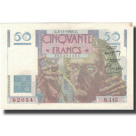 France, 50 Francs, Le Verrier, 1949, 1949-11-03, SUP, Fayette:20.13, KM:127b - 1871-1952 Circulated During XXth