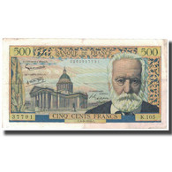 France, 500 Francs, Victor Hugo, 1958, 1958-09-04, TB, Fayette:35.10, KM:133b - 1871-1952 Circulated During XXth