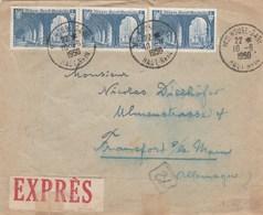 Lettre Pour L'Allemagne : Expres : Mulhouse Gare - Railway Post