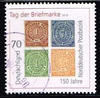 Bund 2018, Michel# 3412 O Tag Der Briefmarke : 150 Jahre Norddeutscher Postbezirk - [7] République Fédérale
