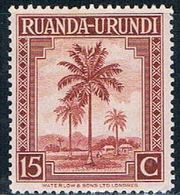 Ruanda Urundi 70 MNH Oil Palms 1942 (R0252) - Ruanda-Urundi