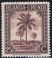 Ruanda Urundi 72 MNH Oil Palms 1942 (R0254) - Ruanda-Urundi