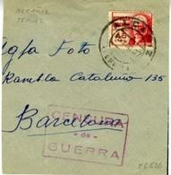 1937 ALCANIZ  CENSURA DE GUERRA  Fragmento   EL626 - 1931-50 Cartas