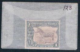Nyassa 123 Unused Zebra 1921 CV 1.00 (N0494) - Nyassa