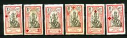 INDE FRANCAISE - 43 à 48 - 6 Valeurs Croix-Rouge - Neufs N* - Très Beaux (petits Amincis Verso Du 47) - India (1892-1954)