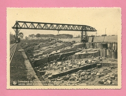 C.P. Ecaussinnes-Lalaing = Carrière  De  SCOUFFLENT :  Ancien  Siège D'extraction Avec  Pont Portique De 80T. - Ecaussinnes