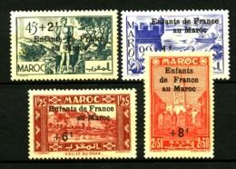 MAROC - 200 / 203 - Enfants De France Au Maroc - Complet 4 Valeurs - Neufs N* - Très Beaux - Unused Stamps