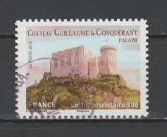 """FRANCE / 2012 / Y&T N° AA 714 : """"Demeures Historiques"""" (Château De Guillaume Le Conquérant) - Choisi - Cachet Rond - Frankreich"""