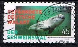 Bund 2019, Michel# 3437 O Der Schweinswal - Gefährdete Deutsche Walart Selbstklebend, Selfadhesive - BRD