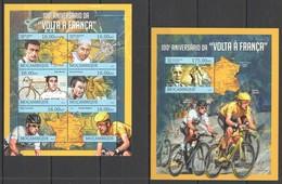 ST2629 2013 MOZAMBIQUE MOCAMBIQUE SPORT CYCLING TOUR DE FRANCE VOLTA A FRANCA KB+BL MNH - Radsport